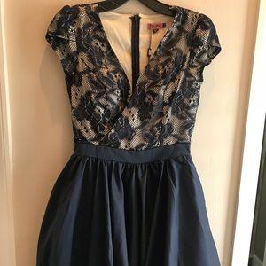 Blue Lace Princess Mini Dress